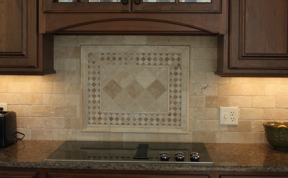 Custom Stone Back splash Detail