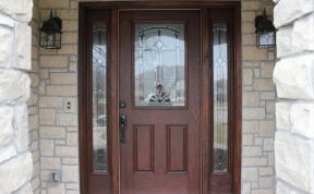 Stained Wood Front Door